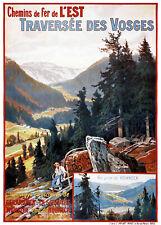 Affiche chemin de fer Est - Traversée des Vosges