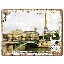 PP0772 Vintage PARIS Sign Rustic Parking Plate Home Restaurant Cafe Gift Decor