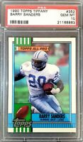 1990 Topps (Tiffany) #352. Barry Sanders. PSA 10. !!!HOFer!!! (POP 68) HOC85🔥