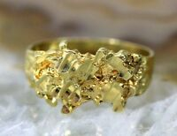 """""""Cast Nugget"""" 14K YELLOW GOLD Womens Ring - 2.8 GRAMS - Size 5 -"""