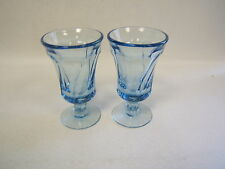 "Pair of 2 Fostoria Jamestown Blue Footed Juice Glasses 4 3/4"" tall VGC"