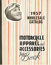 1957 Beck MOTORCYCLE APPAREL ACCESSORIES CATALOG H-D ++ Vintage PARTS Helmets ++