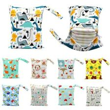 2 Pack Waterproof Wet Dry Cloth Bag for Baby Bag Diaper Organizer Swimsuits