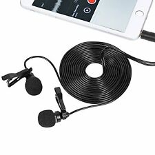 Interview Microphone Dual Headed Recording Clip On Mini For Smartphone Handphone