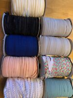 Mixed Elastic Hairband 10 Metres Fold over Elastic Band for Headbands or Craft