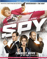 Spy (Blu-ray Disc, 2015) Melissa McCarthy/Jason Statham/Rose Byrne!
