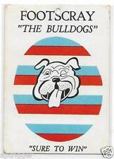 1968 Scanlens Emblem Card FOOTSCRAY ~~
