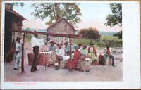 Black Workers Weighing Cotton - 1905 Postcard - Farm View