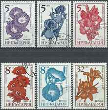 Timbres Flore Bulgarie 2955/7 3023/5 o lot 18153