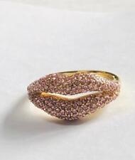 Kate Spade New York Light Rose Lips Pave Statement Ring Size 6