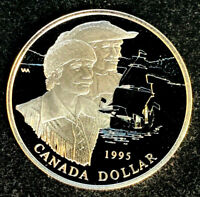 """1995 Canadian $1.00 Silver Proof Dollar -""""325ᵗʰ Anniversary of Hudson Bay Co."""""""