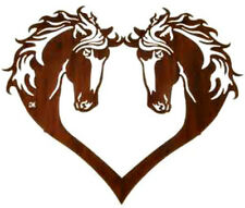 20  WATER SLIDE NAIL  DECALS TRANSFERS BROWN HORSES IN A HEART  5/8 TH INCH