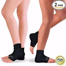 Plantar Fasciitis 2 Pk, FDA Foot Pain Compression Sleeves Heel Ankle Socks- L/XL