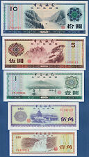 CHINA Set FOREIGN EXCHANGE  UNC  P. FX1-FX5