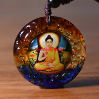 Tibet  Buddha Pendant Sakyamuni God Necklace Amulet  Blessed Glass Buy 2 Get 1