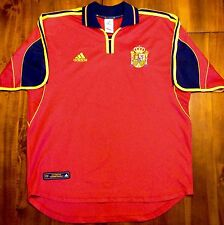 Adidas SPAIN Home Euro 2000 National Soccer Jersey Camiseta Large Shirt Football