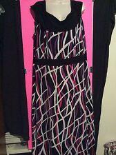Womens Plus 2X 3X Black Pink Purple Long Sleeveless Dress Summer Casual Party