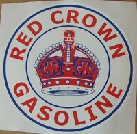 "Red Crown Gasoline Graphic Decal 11.5"" *Gas & Oil / GAS PUMP STICKERS / PETRO"