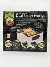 Presto 05466 Stainless Steel  Dual Basket ProFry ImmersionElement Deep Fryer New