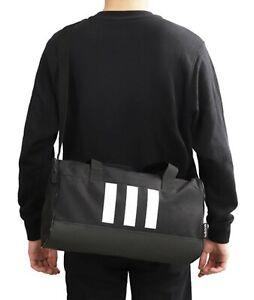 Adidas Unisex 3-Stripe X-Small Duffel Bags Black Casual Cross Bag Sacks GE1238
