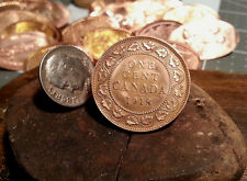 Golf Ball Marker Cnadian 1918 One Cent Piece Large Penny Ball Marker