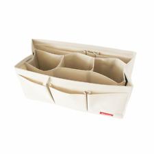 For Speedy 25 30 40, Waterproof Sturdy Bag Liner Purse Insert Organizer, Ivory