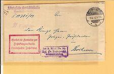 DR / CHARLOTTENBURG 4b 9.4.10 Gitter-Stpl. a. Zustell-Urkunden-Brief nach Bochum