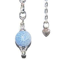 Pretty Blue Dragon Veins Agate 12mm Sphere Crystal Pendulum Eliminate Negativity