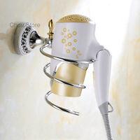 Bathroom Organizer Wall Mounted Spiral Blower Rack Hair Dryer Storage Holder