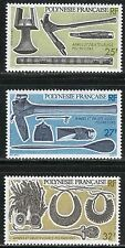 French Polynesia 1987 Weapons & Everyday Objects Polynesians Guns set of 3 MNH**
