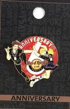 "Hard Rock Cafe VENICE 2015 6th Anniversary PIN Waiter & Waitress ""6"" HRC #50288"