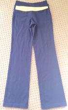 LULULEMON ASTRO PANTS Navy Blue/ Orange/ Ziggy Caspian size 4 EUC Yoga Gym Run