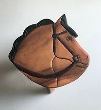 Childrens/Childs/Kids Wooden Stool - Horse