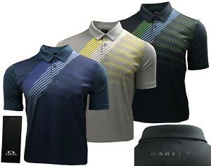 Oakley Golf Striped Shadow Graphic Polo Shirt - RRP£60 - S M L XL XXL