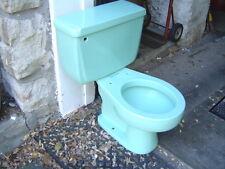VINTAGE ONE FLUSH American Standard toilet 4049 ROUND bowl GREEN AEGEAN MIST ?