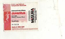 CALCIO   BIGLIETTO  TICKET   INTER    JUVENTUS    CAMPIONATO   1983/84