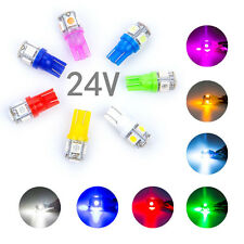 50Pcs Mixed 24V LED T10 W5W 5SMD Car License Plate Bulbs Light 192 194 168  2825