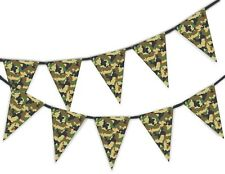 Green Classic Army Camouflage - Military Bunting Banner 15 flags by PARTY DECOR
