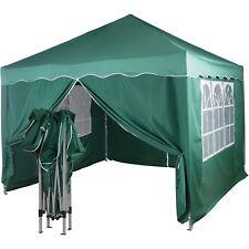 Klapp Falt Pavillon 3x3m WASSERDICHT grün Party Zelt Gartenzelt Pavillion