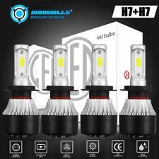 4Pcs H7+H7 2640W LED Headlight Bulbs for BMW 328i 335i 325i 2010-2015 Hi/Lo Beam