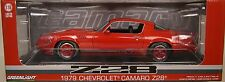 GREENLIGHT COLLECTIBLES 1:18 SCALE DIECAST METAL RED 1979 CHEVROLET Z/28 CAMARO