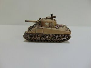 1:72 WW2 BUILT & PAINTED AMERICAN M4A2 (105) SHERMAN