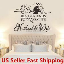 Husband and Wife Removable Room Vinyl Decal Art DIY Wall Sticker Home Decor Gift