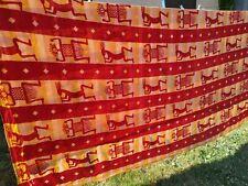 Tenture mur dessus de lit grande rouge orange 210 255 esprit Afrique wax tissu
