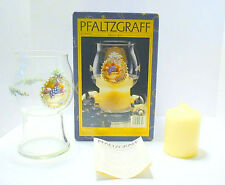 Pfaltzgraff Floating Candle Jar Holly Jolly Scented Candle Made in Usa