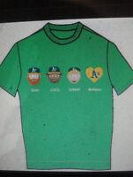 Oakland A's A-moji Tee T-shirt 4-25-2015 sz X-Large Athletics Shirt amoji