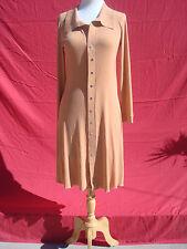 Eva Varro Brown Mustard Color Long Sleeve Women's Dress M