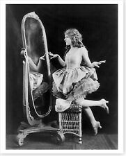 Actress Mary Pickford At Full Length Mirror 8x10 Silver Halide Photo