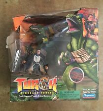 1999 Playmates Turok Dinosaur Hunter Carl Fireseed And Tribal Spinosaurus Figure