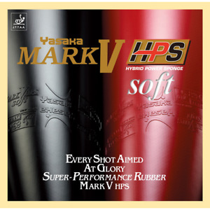 Yasaka Mark V HPS Soft Table Tennis & Ping Pong Rubber, Pick Variation & Add-Ons